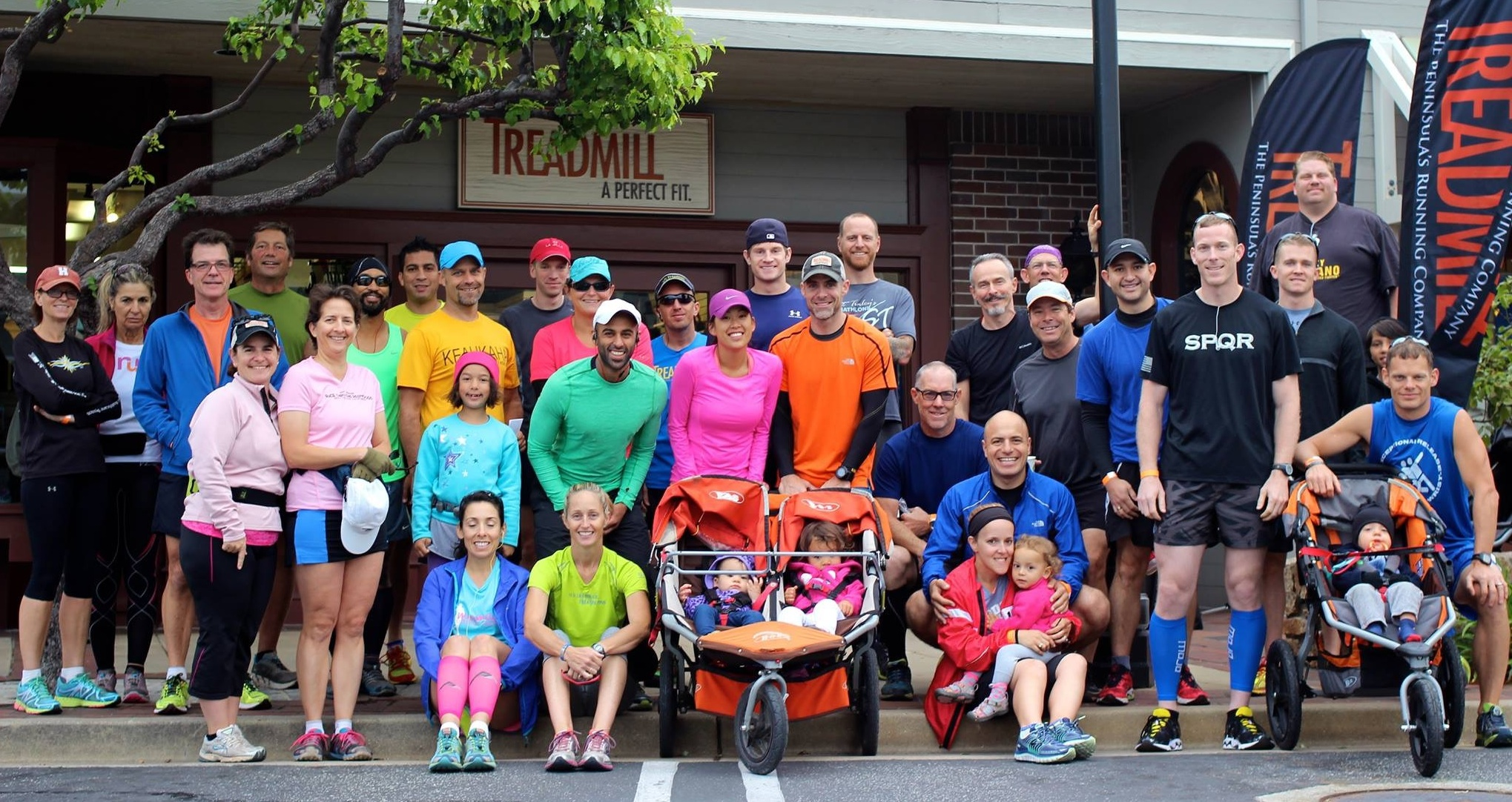 treadmill group photo